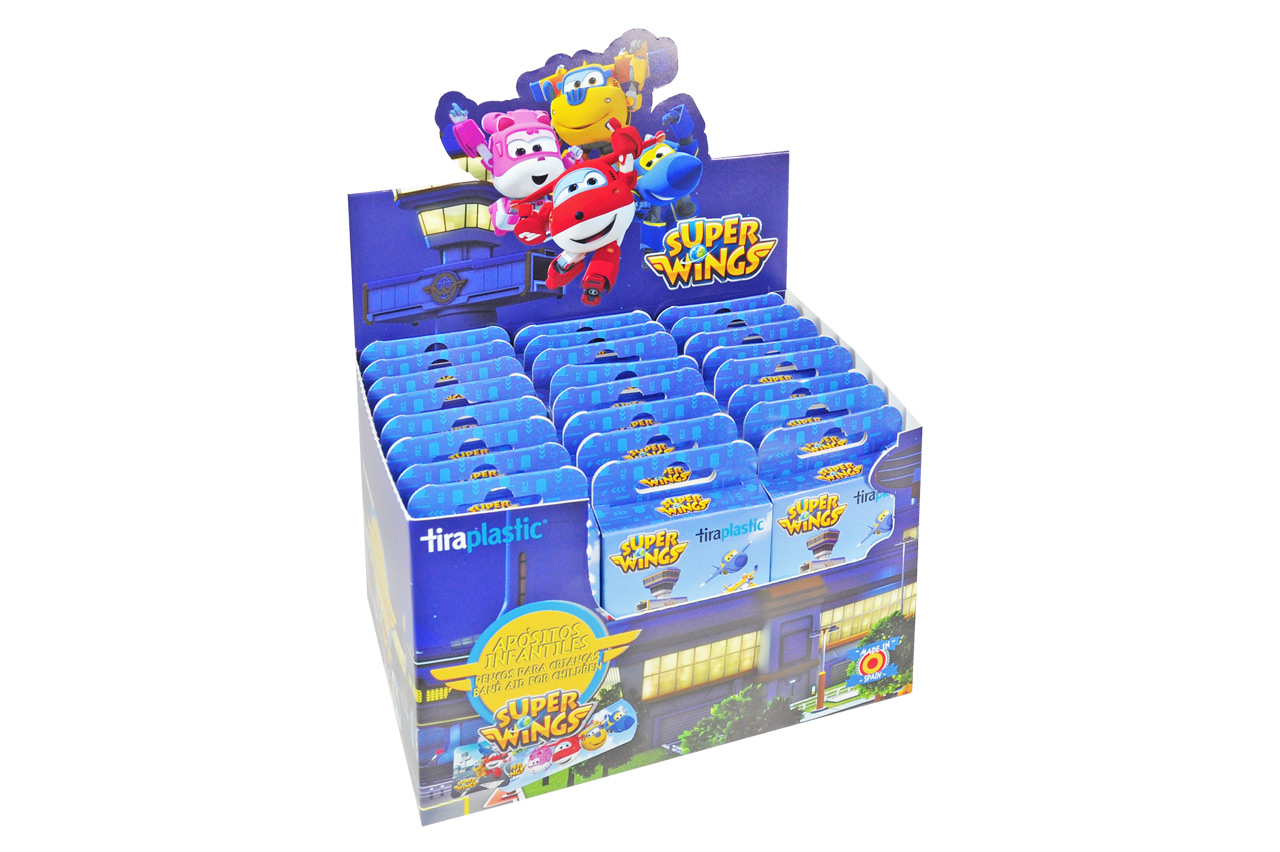 Expositor sobremesa Super Wings para hasta 24 cajas o blisters