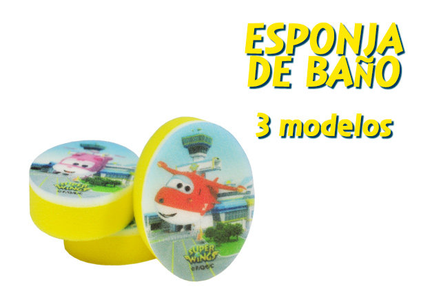 Laboratorios Iberpós - Esponja de baño infantil Super Wings, disponible en 3 modelos